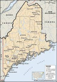 map of maine with cities map of maine cities maine history geography britannica with 440 x