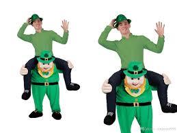 Piggyback Halloween Costume 2016 Green Stuffed Ride Stag Mascot Costume Carry