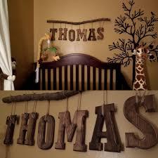 Letter Decorations For Nursery Safari Theme Nursery Room For Our Diy Name Nursery