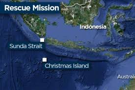 map showing location of boat capsize off christmas island abc
