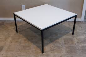 uncategorized knoll square t angle coffee table with white
