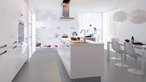 cuisine blanche brillante cuisine wilah modele cuisine grise cuisine grise et blanche bois
