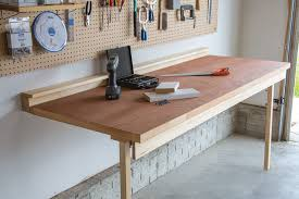 fold down desk hinges drop down workbench buildsomething com