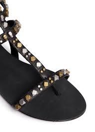 ash u0027mykonos u0027 skull stud caged sandals in black lyst