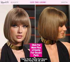 what is deconstructed bob haircuta taylor swift stuns with chic bob at vanity fair post oscars bash