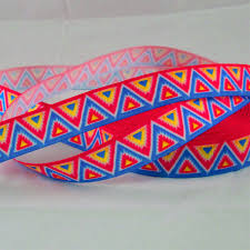 aztec ribbon 7 8 aztec print grosgrain ribbon by the yard craft