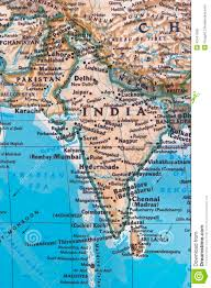 Pune India Map by India And Pakistan Stock Photo Image 42411559