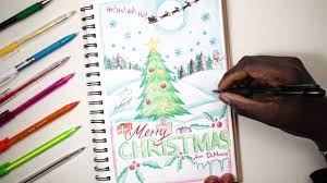 merry christmas sketch sunday 15 how to draw a christmas card