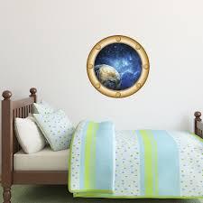stickers trompe oeil mural sticker muraux trompe l u0027oeil sticker mural la terre dans l