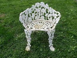 Vine Chair Vintage Cast Iron Grape Vine Chair With Arms Lawn Yard Patio