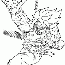 dbz coloring page funycoloring