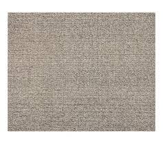 chunky wool u0026 jute rug gray pottery barn