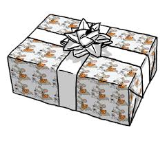 transparent wrapping paper gift in toopy binoo wrapping paper transparent png stickpng