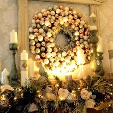 fireplace fantastic christmas mantel decorations with ball