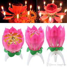 lotus birthday candle musical candle musical lotus rotating happy birthday candle lights
