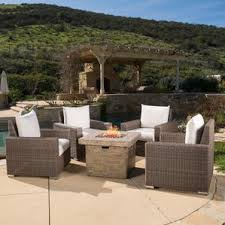 Patio Furniture With Gas Fire Pit by Fire Pit Table Sets You U0027ll Love Wayfair