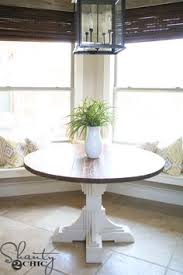 Woodworking Plans Kitchen Nook by Farmhouse Style Round Pedestal Table Free Woodworking Plans