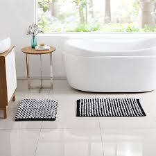 Two Tone Bathroom Vcny Home Reily Two Tone Cotton Blend Cut Pile 2 Piece Bath Rug
