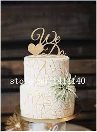 we do cake topper 2016 unique design we do gold acrylic wedding cake topper gold