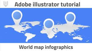 Blue World Map by How To Create World Map Infographics Adobe Illustrator Tutorial