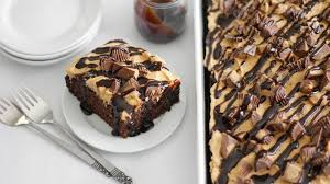 peanut butter chocolate poke cake recipe poke cakes chocolate
