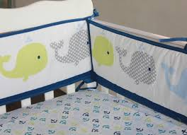 Whale Crib Bedding 8pieces Baby Bedding Set 3d Embroidery Dolphin Baby Crib Bedding