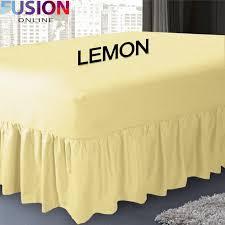 Bed Valance Wrap Easy Care Polycotton Box Pleated Base Valances Bed Valance Uk Msexta