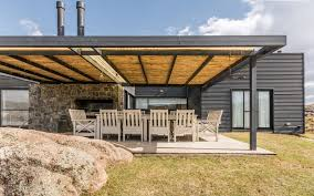 Pergola Off House by Black Pampa House Is An Off Grid Refuge In The Wild Grasslands Of