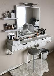 Homemade Makeup Vanity Ideas Bathroom Best The 25 White Vanity Ideas On Pinterest Makeup