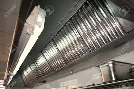 Professional Kitchen Exhaust Systems Hood Filters Detail In A Professional Kitchen