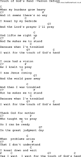 country southern and bluegrass gospel song touch of god u0027s hand