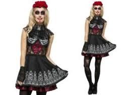Mexican Woman Halloween Costume Dead Spanish Mexican Costume Ladies Halloween Ebay