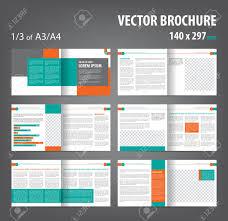 12 page brochure template vector empty bi fold brochure print template design bifold bright