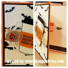 witches brew halloween card stampin u0027 press