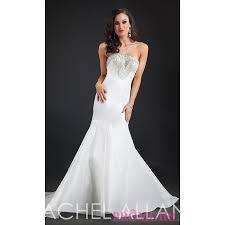 strapless mermaid style long rachel allan prom dress discount