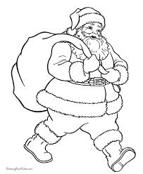 free printable christmas coloring sheets santa hand