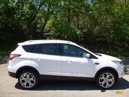 Ford Escape Titanium - 2017 white platinum ford escape titanium 4wd 112772771 gtcarlot