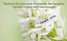 Sympathy Flowers Message - thank you messages for condolences u0026 thank you notes