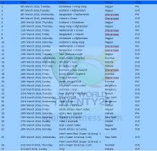 2016 ipl match list t20 world cup 2016 match schedule and fixtures