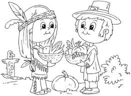 thanksgiving indian coloring pages coloring home