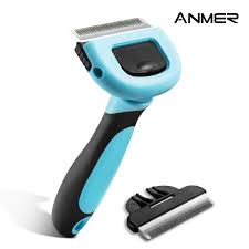 anmer pet grooming shedding brush tool for small medium u0026 large