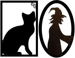 Halloween Stencils Printable by Halloween Decorations Ideas Framed Creepy Silhouette