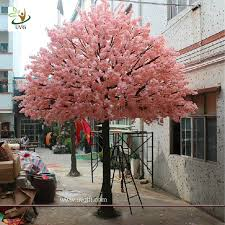 15 foot large cheap artificial trees in silk cherry blossoms for