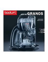bodum granos 3020 user manual 26 pages