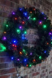 led multi pre lit wreath 48 inches