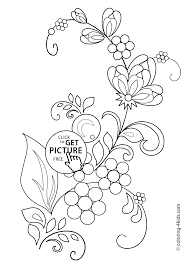 flowers coloring pages for kids printable free flowers and leaves