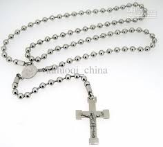 rosary necklace with cross images 2018 rosary cross necklace men 39 s necklace fashion jewelry from jpg