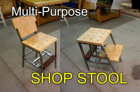 making a multi purpose diy shop stool out of metal tubing scrap