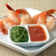classic shrimp cocktail with red u0026 green sauces recipe myrecipes