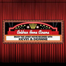 home theater curtain retro marquee personalized cinema sign with searchlights u0026
